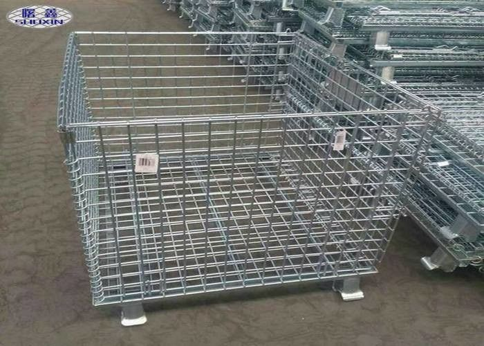 Warehouse Storage Steel Pallet Cages Galvanized Wire Mesh Butterfly Cage